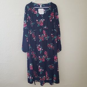 Maternity Floral Print Ruched Woven Dress XXL